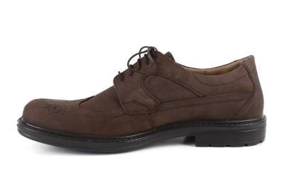 Zapatos de Piel Nobuck Marrón estilo Oxford.