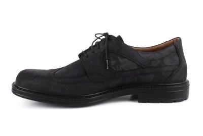 Zapatos de Piel Nobuck Negro estilo Oxford.