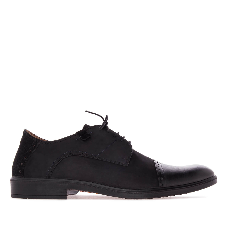 Zapato inglés en Nubuck Negro