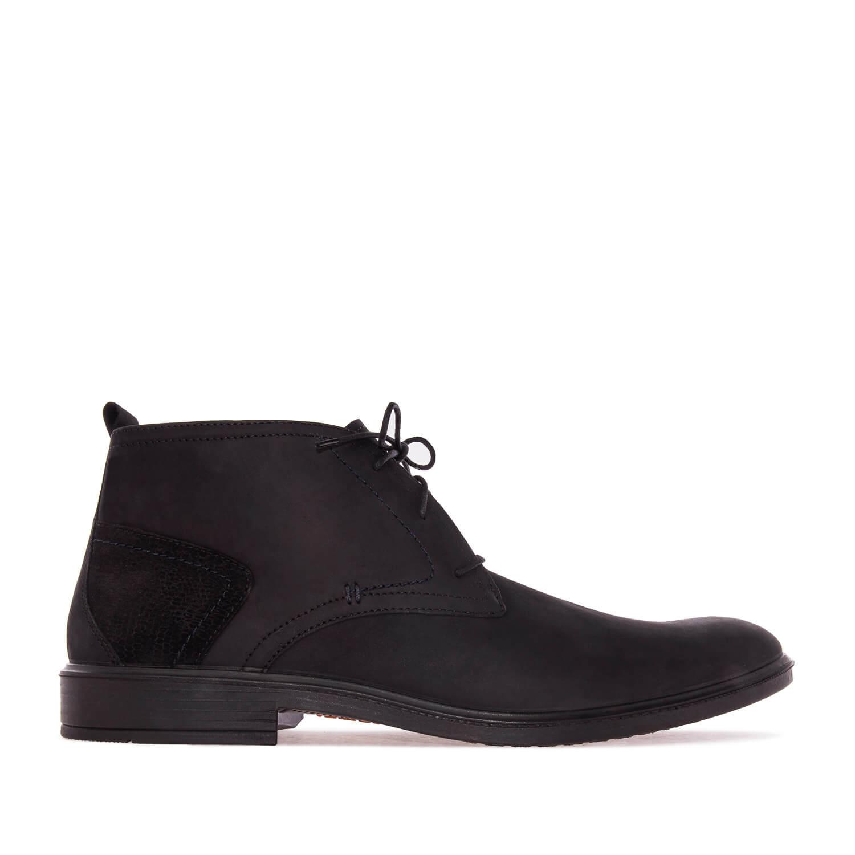 Duboke kožne cipele, crne