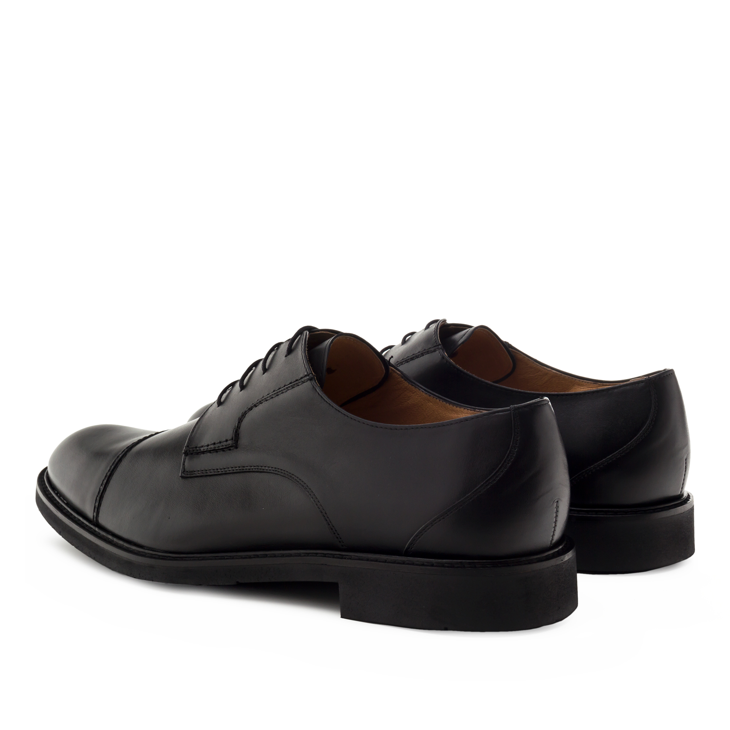 Mens Black Leather Lace-up Shoes