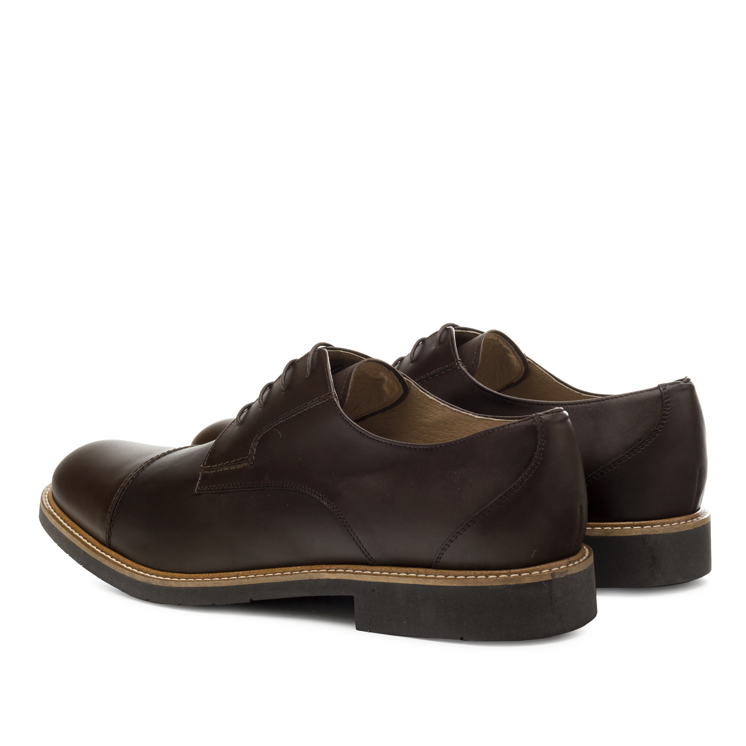 Brown Leather Lace-up Shoes