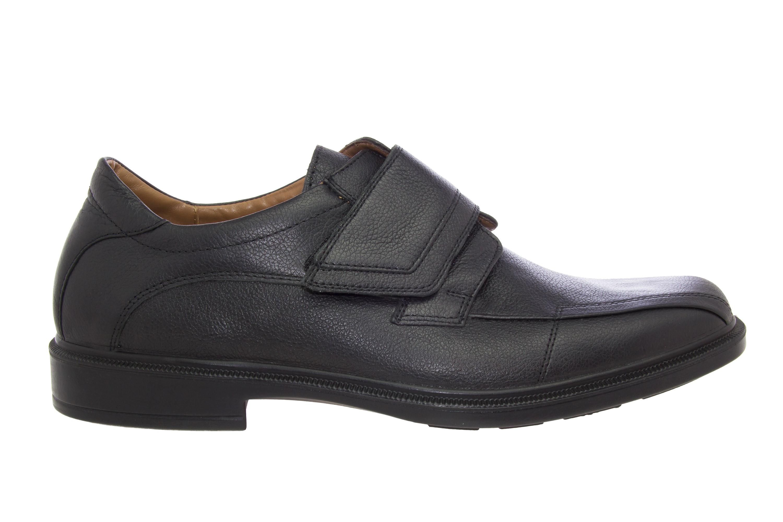 Zapatos de caballero en piel color negro cierre con velcro