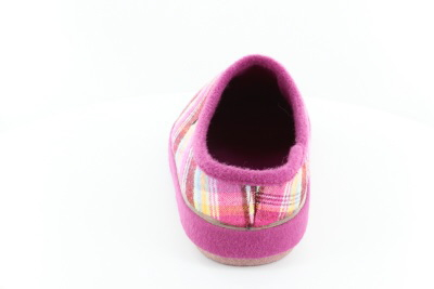 Pantofle Alpinas, růžově čtverečkované.