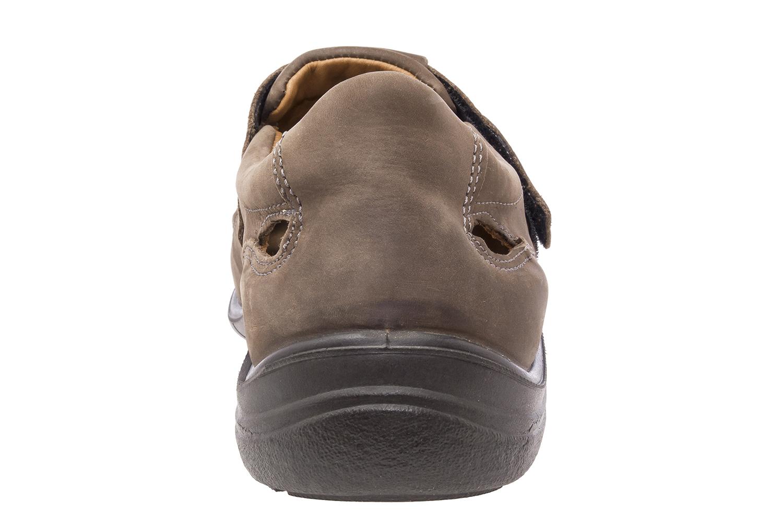 Zapatos Piel Marron con cierre de Velcro
