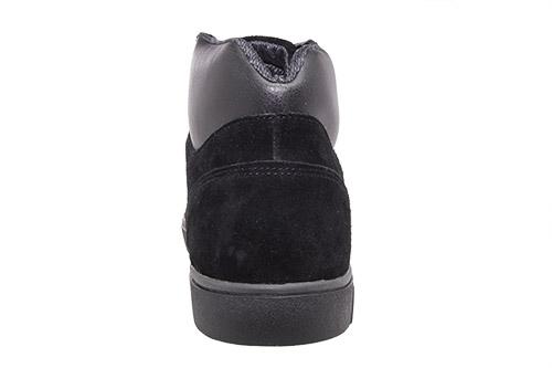 Kožené pánské skate boty kotníčkové, barva černá