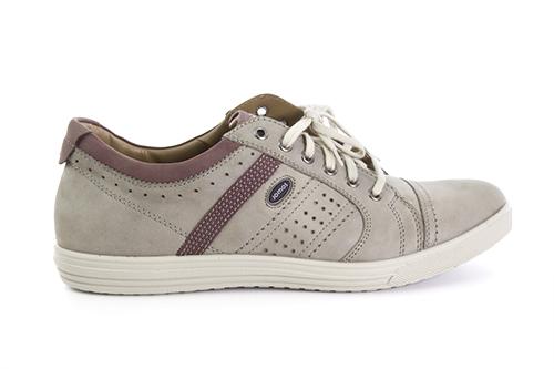 Pánská vycházková obuv, celokožená. Barva šedá.
