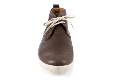 Botín de Piel Marrón Chocolate para Hombre.