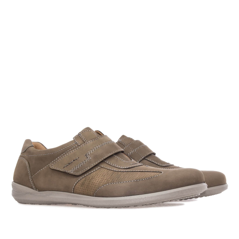 Zapatos de Caballero en Piel Kaki