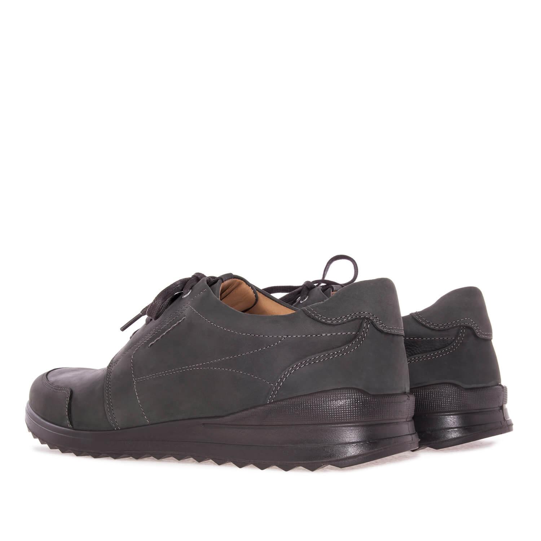 Zapato en Cuero Antracita