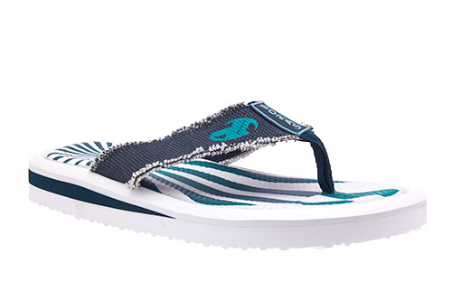 Chanclas blanco y azul
