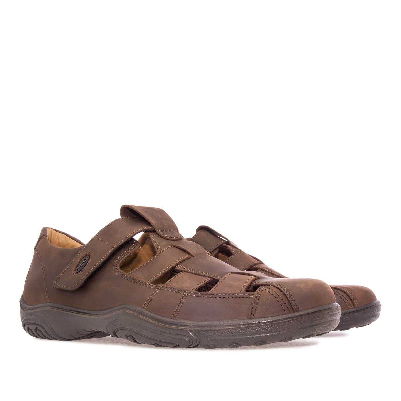 Zapatos de Piel Marrón