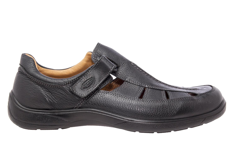 Zapatos Piel Negro con cierre de Velcro
