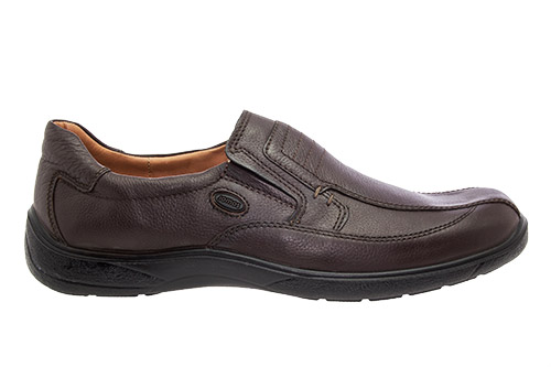 Slip-on de Cuero Marron.