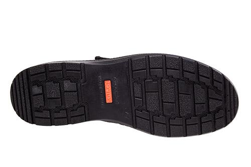 Zapatos en Cuero Negro cierre de velcro