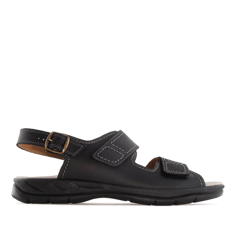 Sandalias de caballero de piel Negro