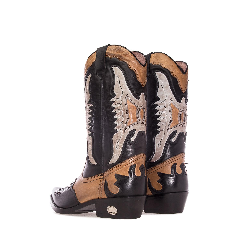 Botas CowBoy en Cuero Tricolor
