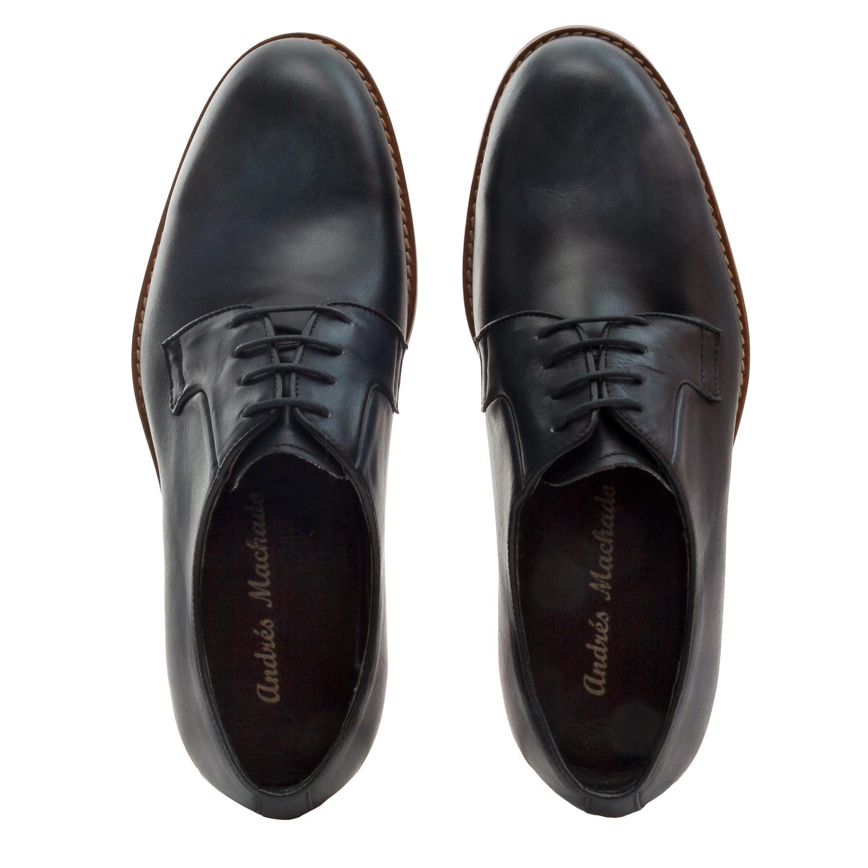 Zapato de Piel color Azul