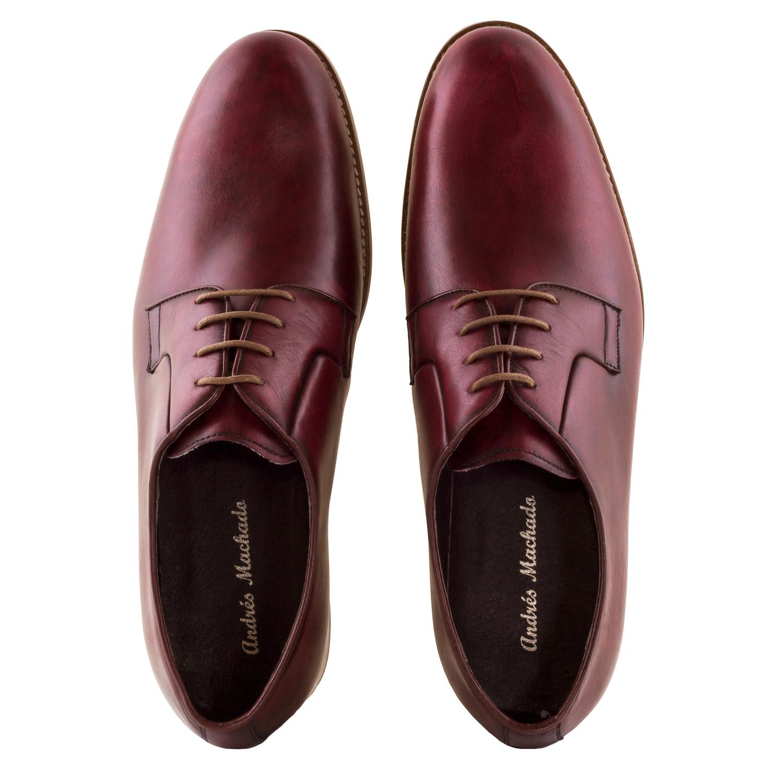 Zapato de Piel color Burdeos