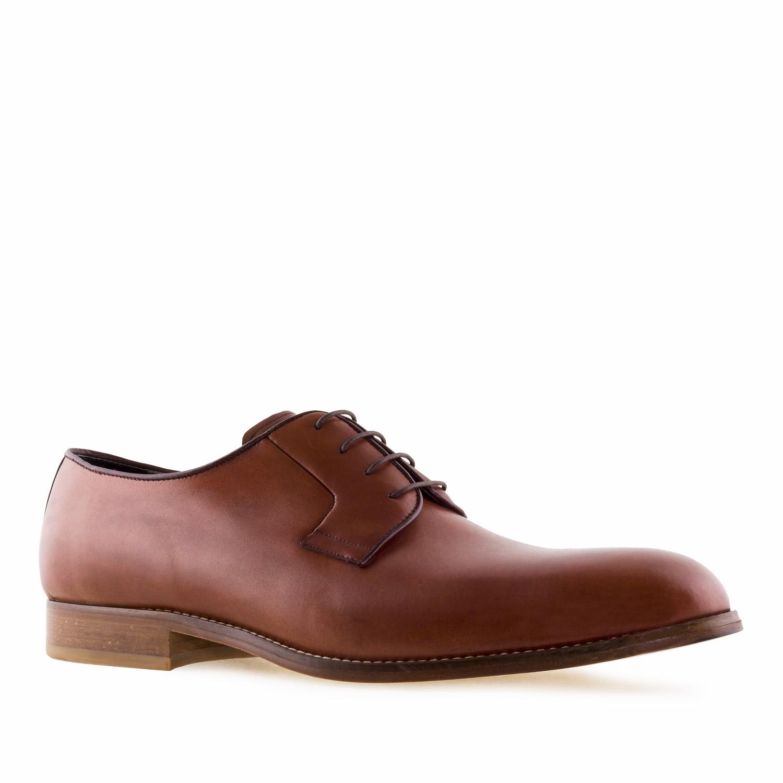 Zapato de Piel color Caoba