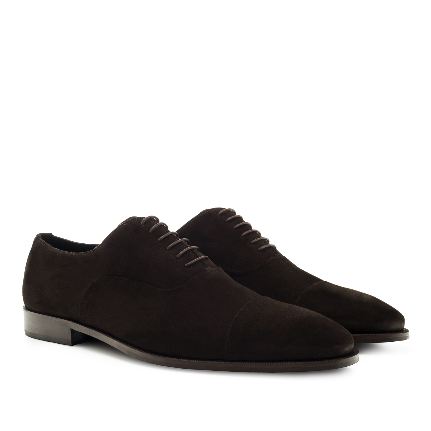 Men's Dress Shoes in Brown Split Leather