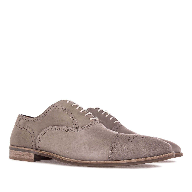 Zapatos estilo Oxford en Serraje Gris
