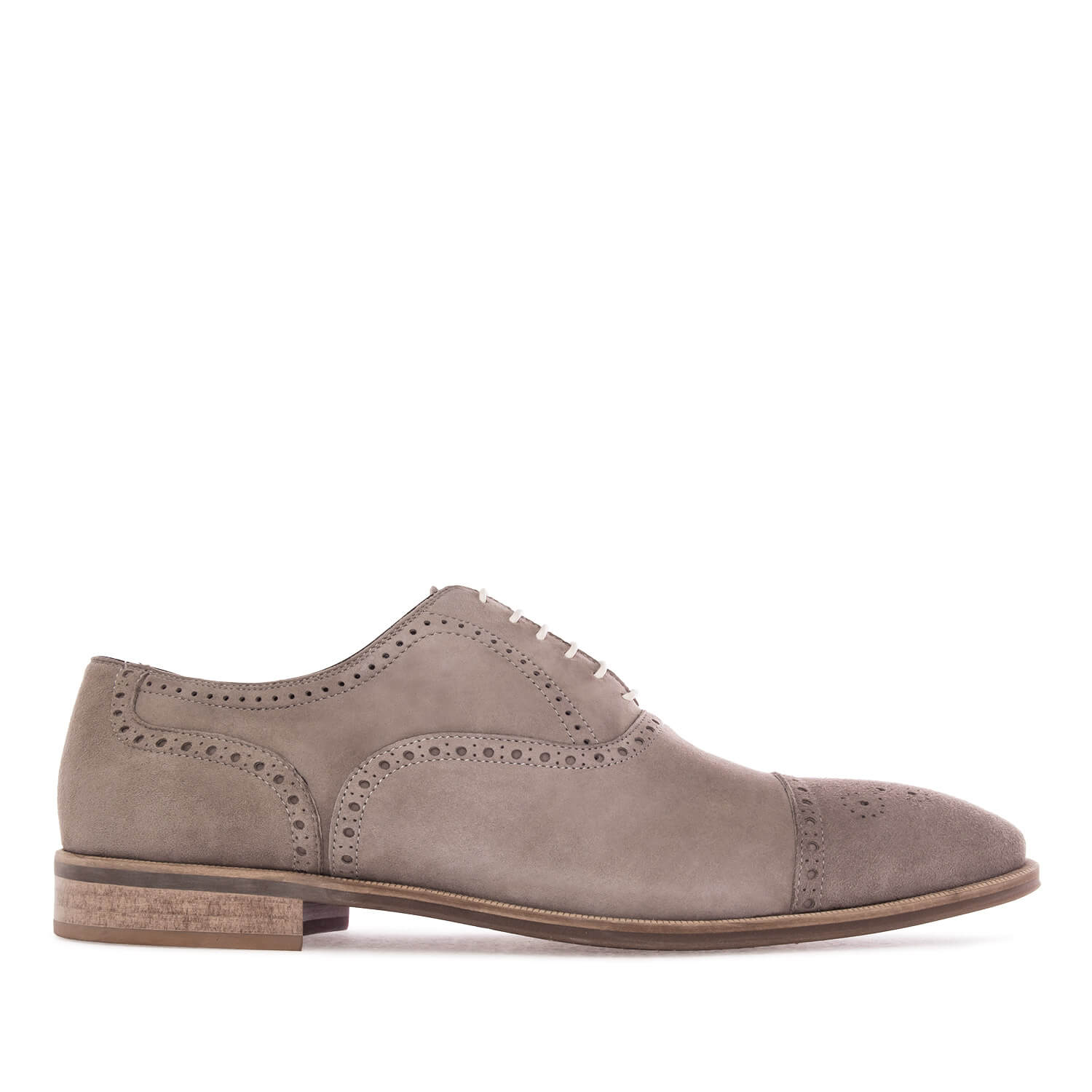 oxford shoes in grey split leather large sizes