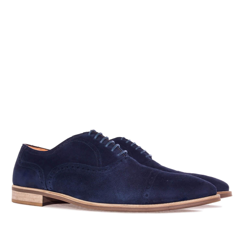Zapatos estilo Oxford en Serraje Marino