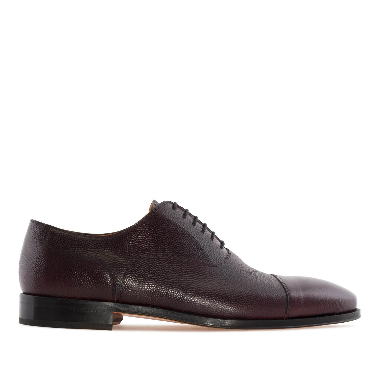 Kožne cipele u Oxford stilu, tamno braon - bordo
