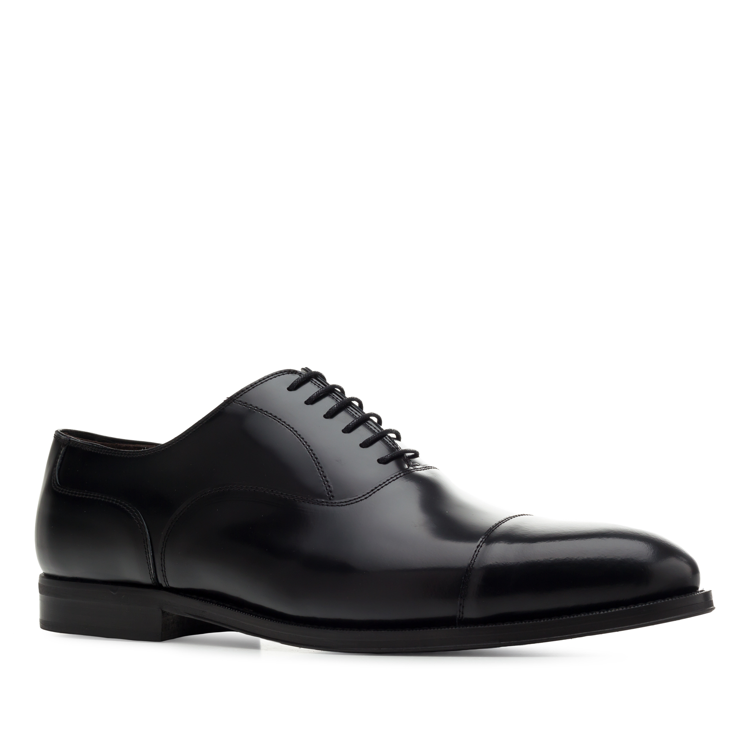 Oxford Shoes in Black Antik Leather