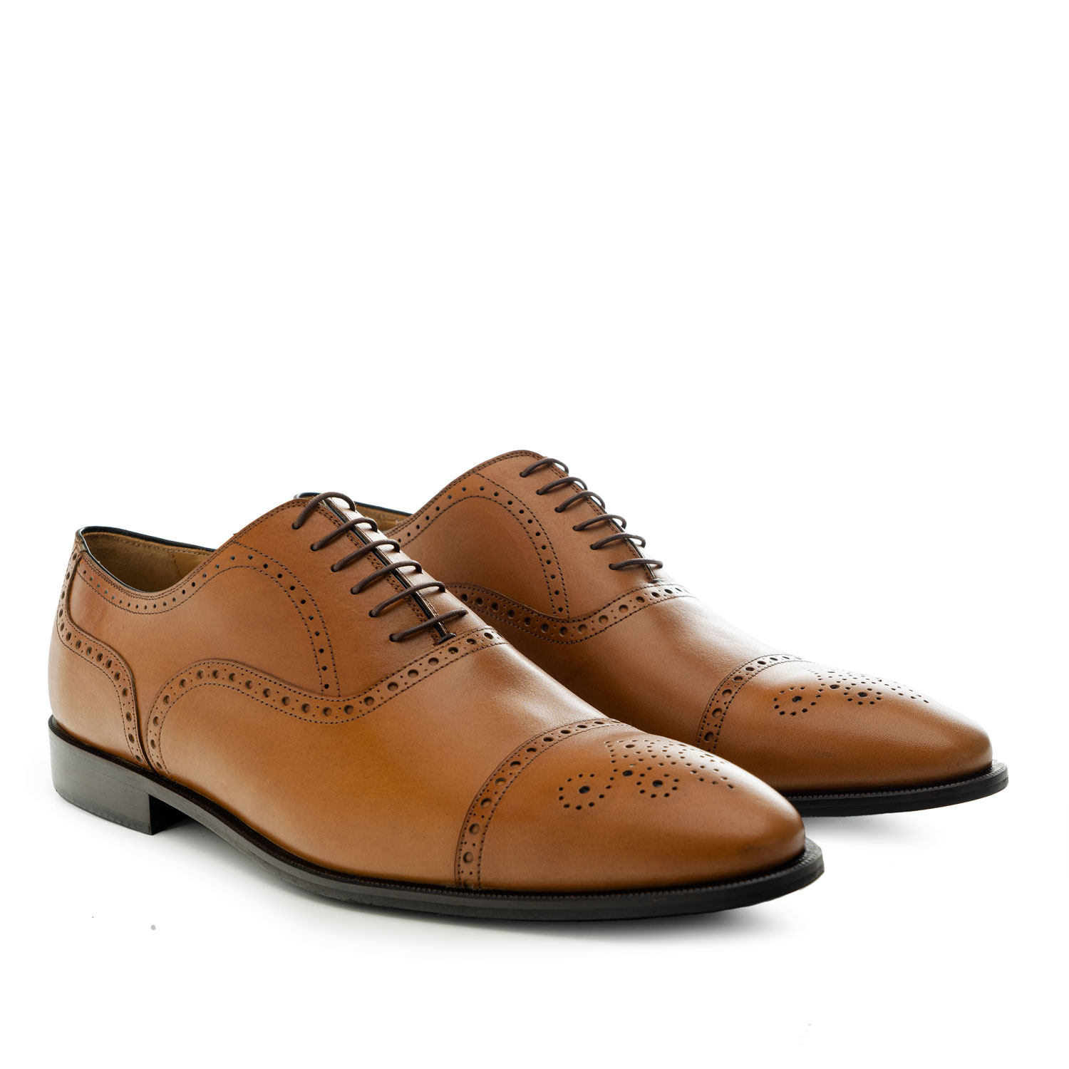 Oxford Shoes in Brown Leather