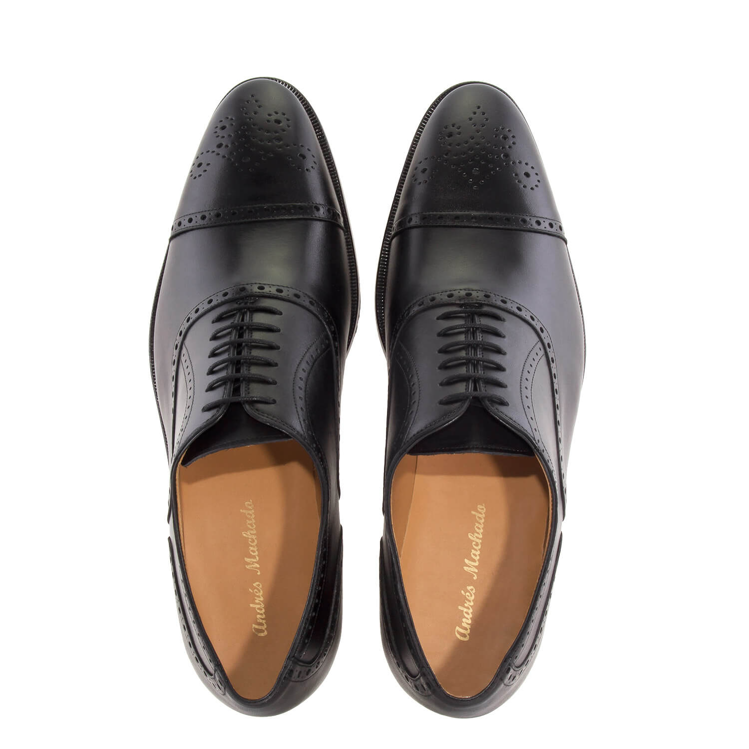 Oxford Shoes in Black Leather