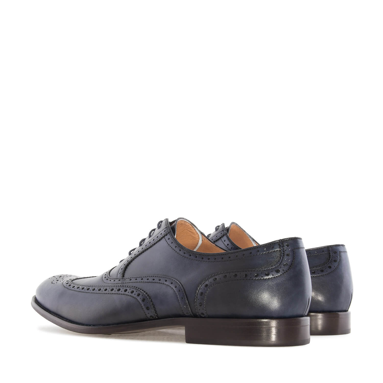 Kožne cipele sa šavpvima, tamno plave