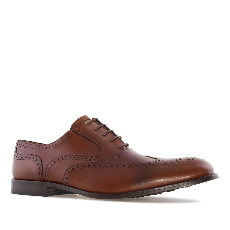 Kožne cipele sa šavpvima, braon