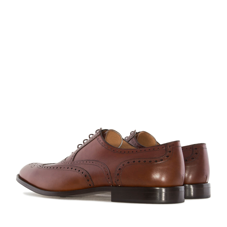 Zapato de Caballero estilo Oxford en Piel Caoba