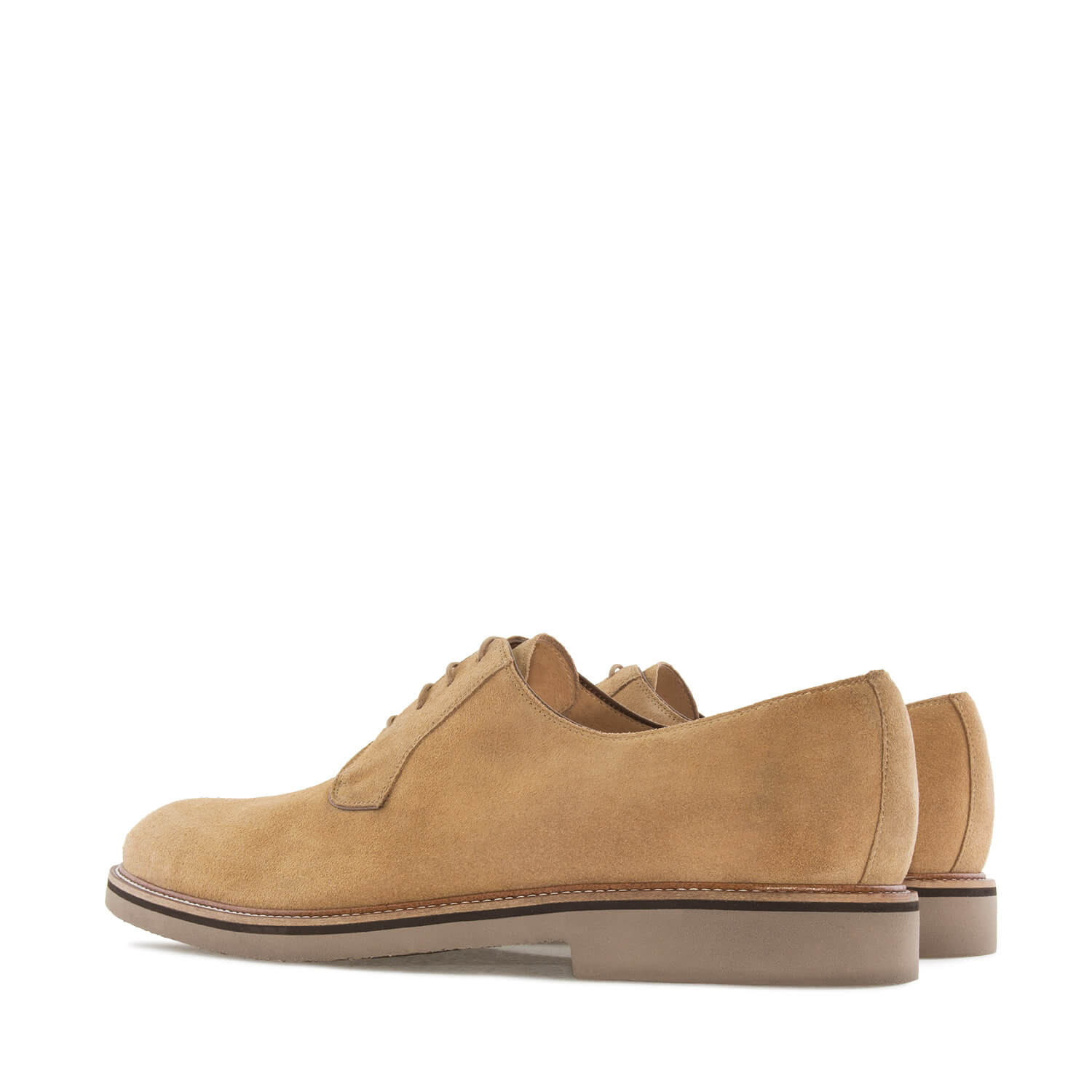 Zapatos Oxford Serraje Camel