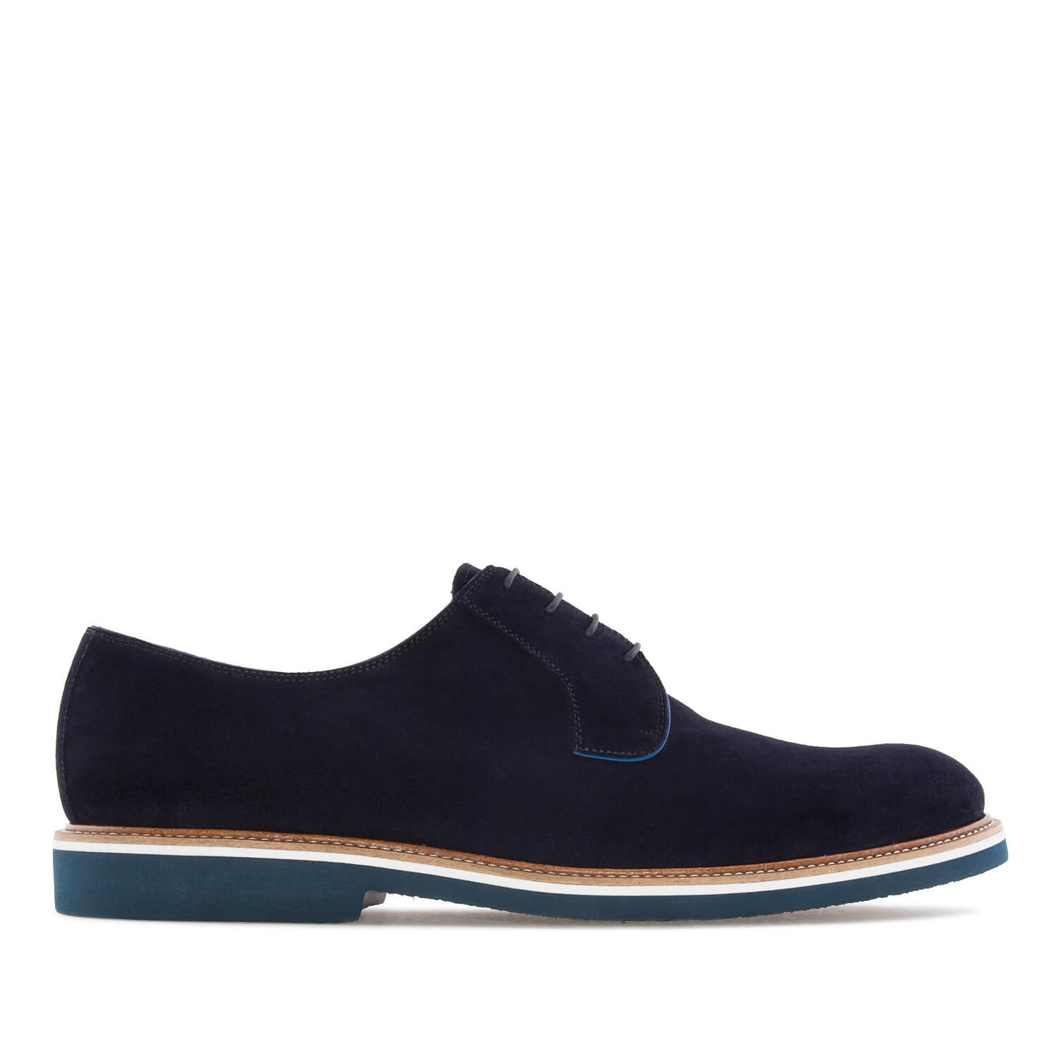 Zapatos Oxford Serraje Azul