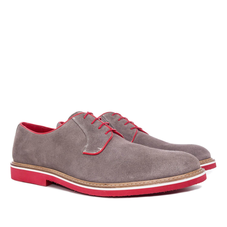 Zapatos oxford serraje gris