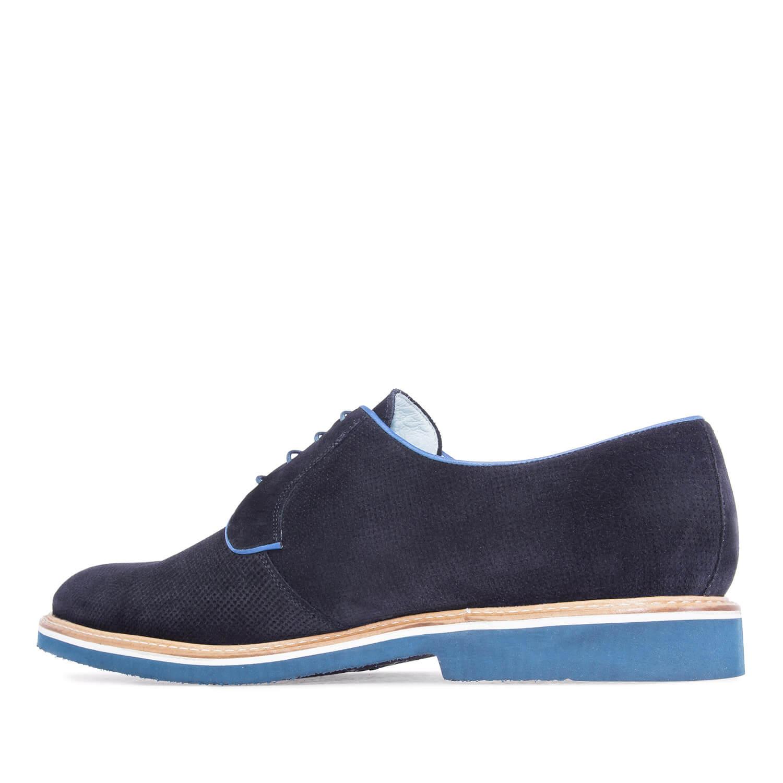 Zapatos oxford serraje marino