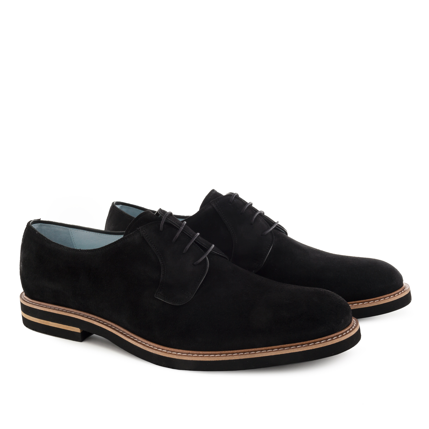 Zapatos Oxford Serraje Negro