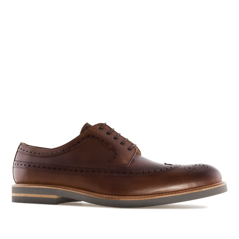 Zapato estilo Oxford en Cuero Marron