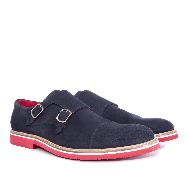 Antilop cipele u oxford stilu, teget sa šnalama