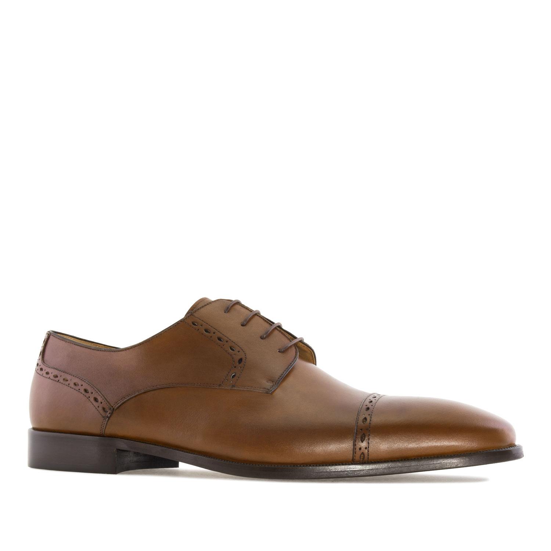 Elegantne kožne cipele, smeđe