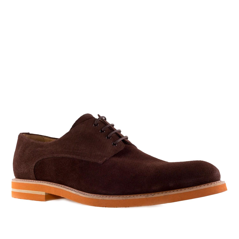 Zapatos oxford Serraje Marron
