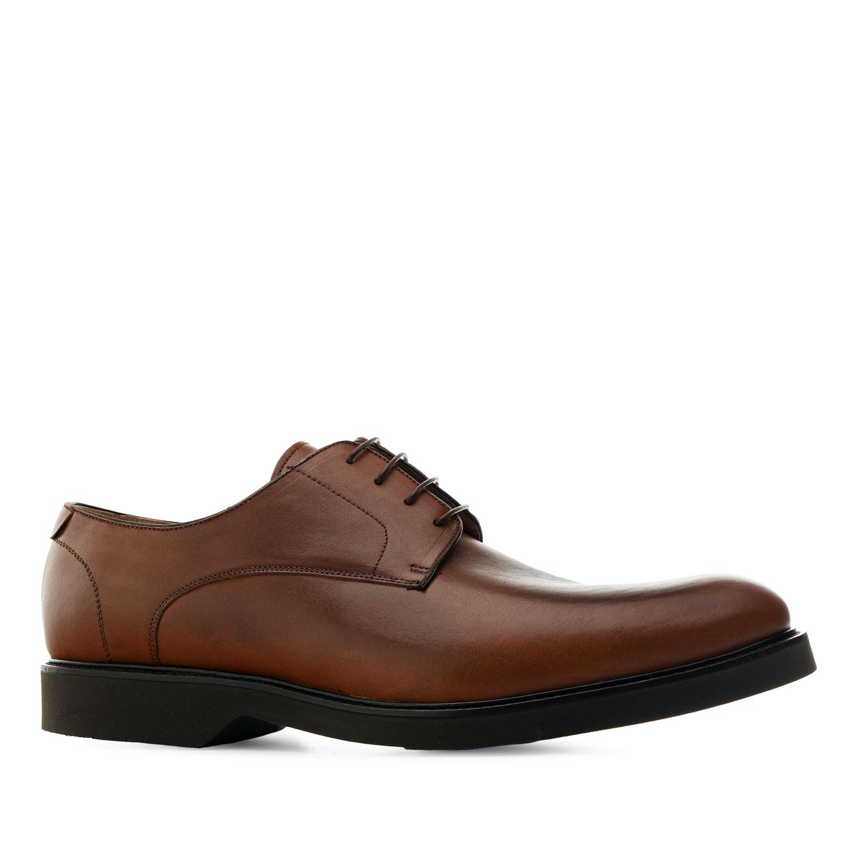 Zapatos estilo Oxford en Cuero de color Caoba