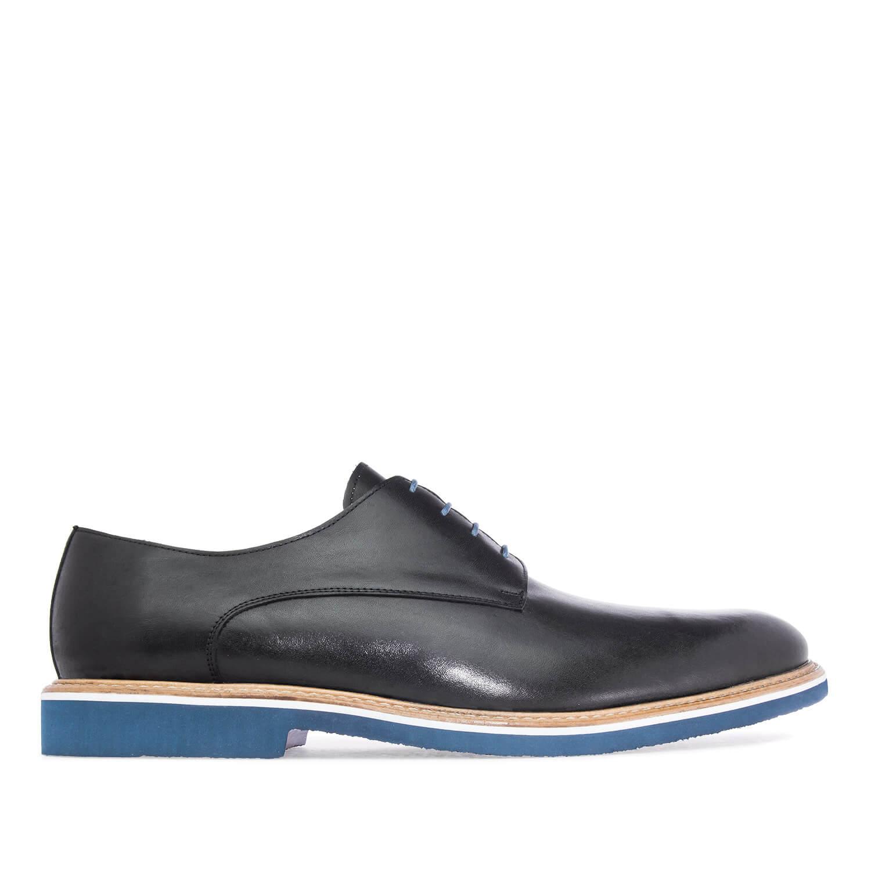 Zapatos oxford de piel negro
