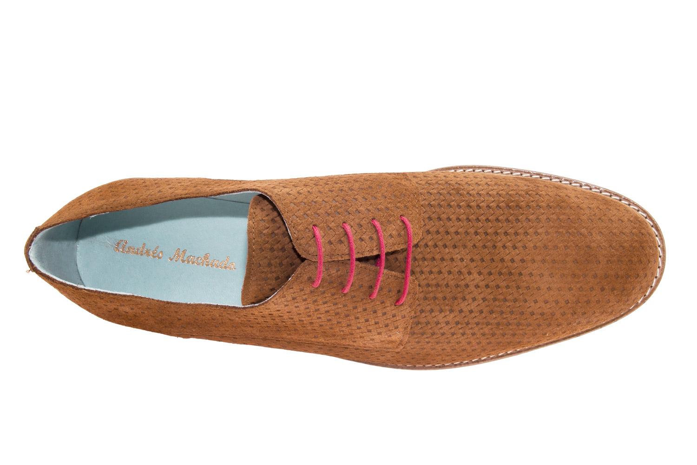Zapatos estilo Oxford Serraje Camel