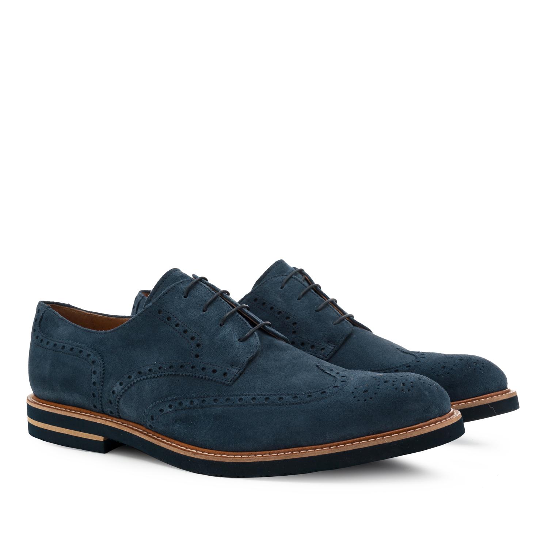 Zapatos estilo Oxford Serraje Azul