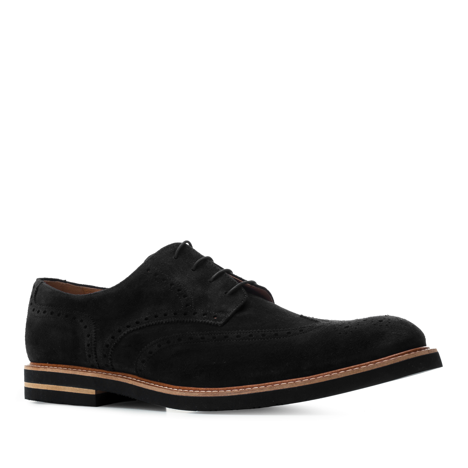 Oxford Shoes in Black genuine Split Leather