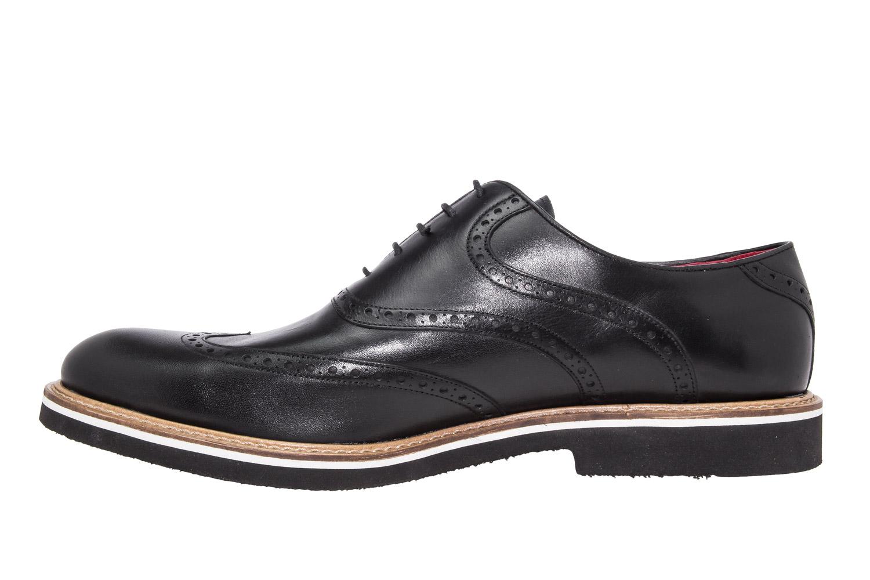 Zapatos estilo Oxford Cuero Negro